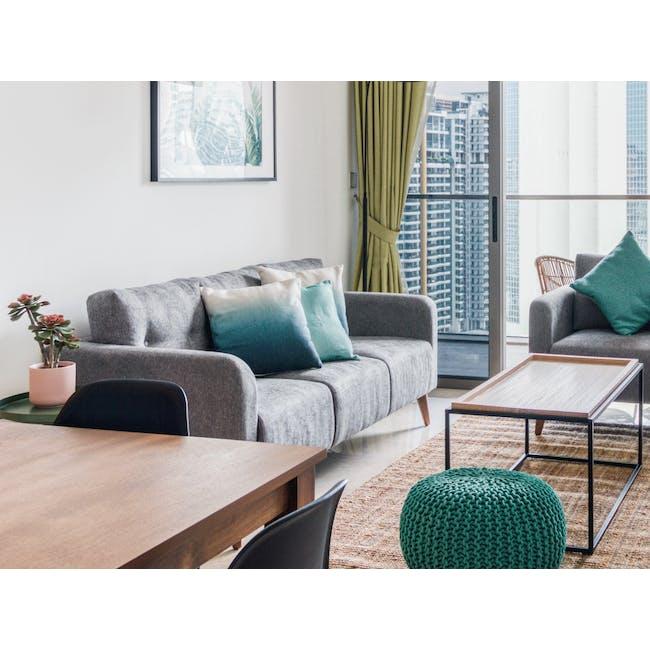 Bennett 3 Seater Sofa - Gray Owl - 1