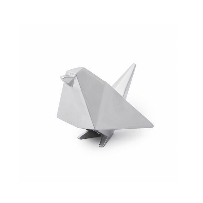 Origami Bird Ring Holder - Chrome - 4