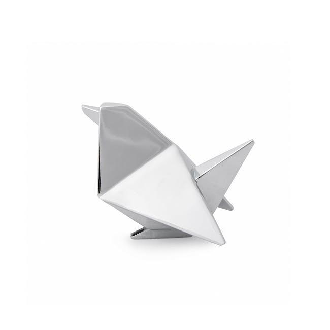 Origami Bird Ring Holder - Chrome - 1