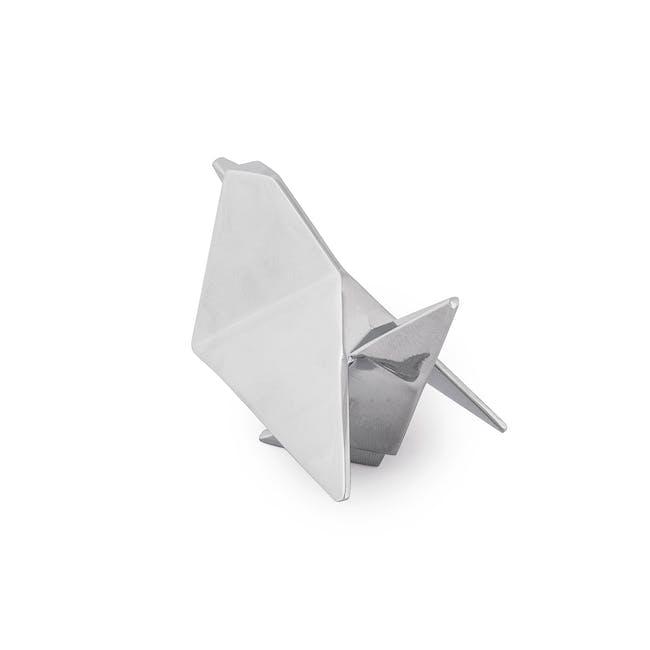 Origami Bird Ring Holder - Chrome - 3