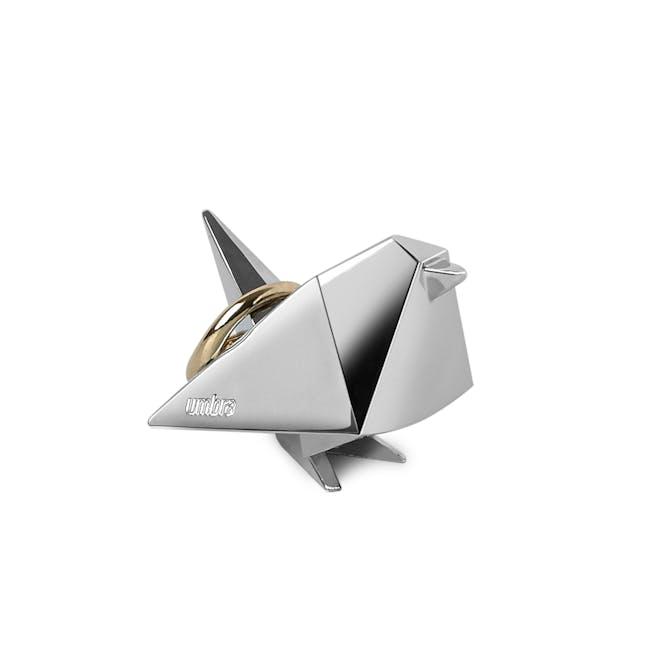 Origami Bird Ring Holder - Chrome - 0