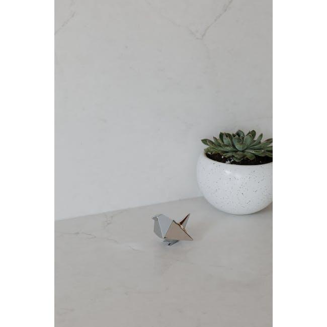 Origami Bird Ring Holder - Chrome - 6