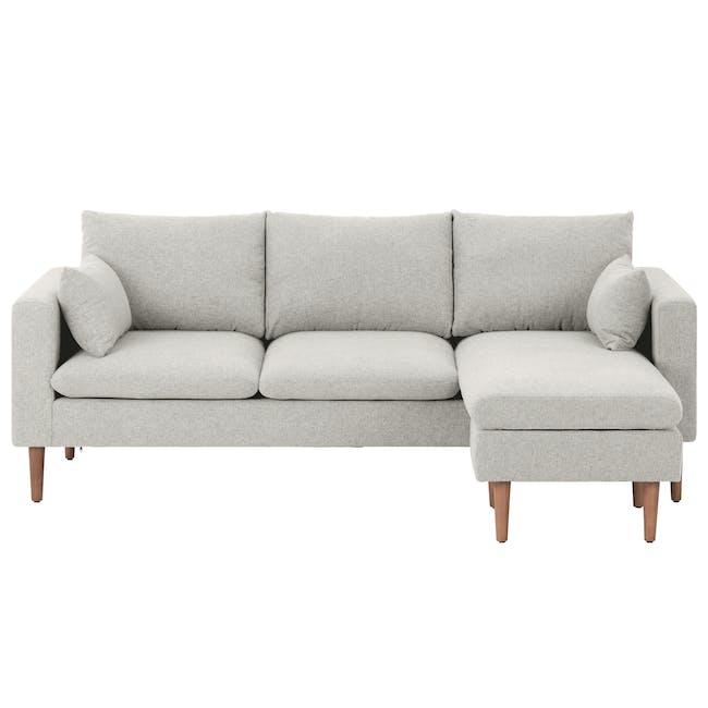 Alicia L-Shaped Sofa - Ivory - 0