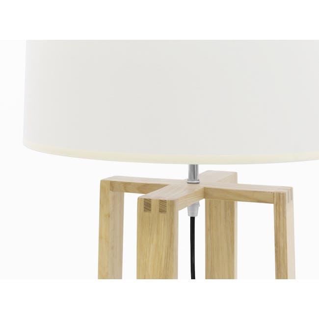 Amber Floor Lamp - Oak, White - 1