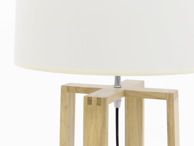 Amber Floor Lamp - Oak - Image 2