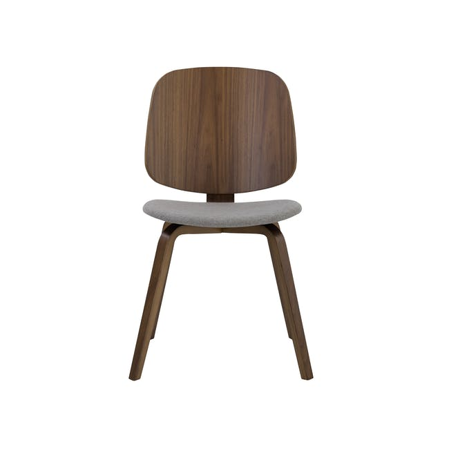 Averie Dining Chair - Cocoa, Dolphin Grey - 1
