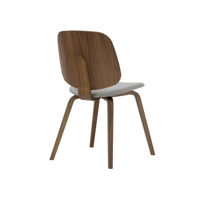 Averie Dining Chair - Cocoa, Dolphin Grey - 3