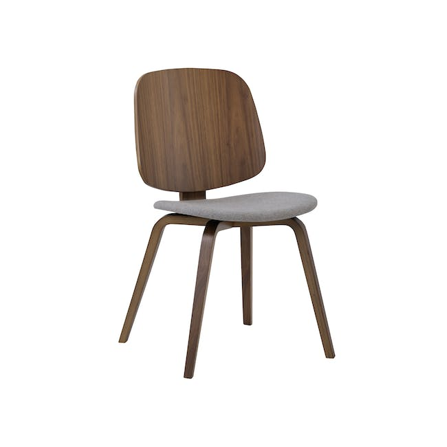 Averie Dining Chair - Cocoa, Dolphin Grey - 0