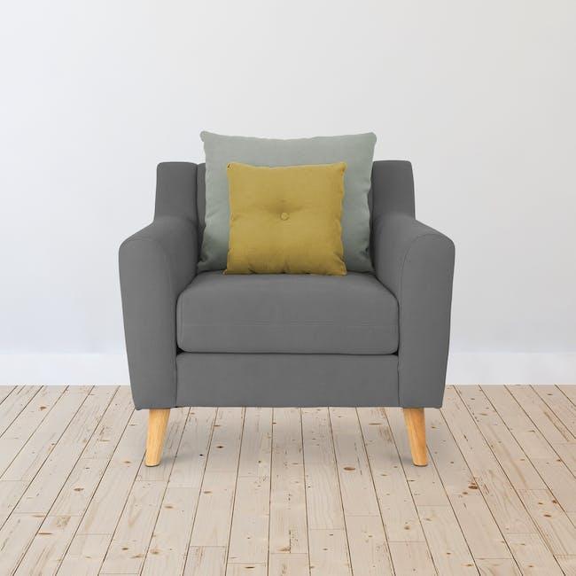 Evan Armchair - Charcoal Grey - 1