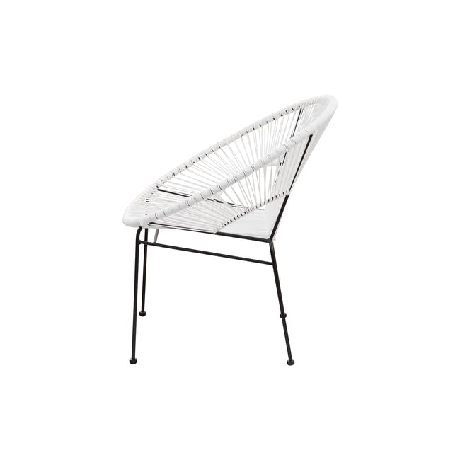 Acapulco Chair - Black, White - 2