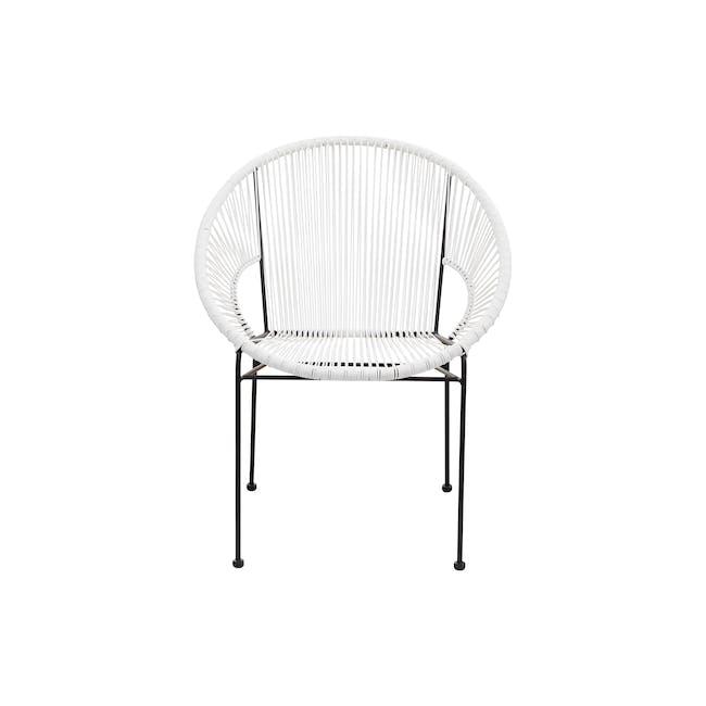 Acapulco Chair - Black, White - 0
