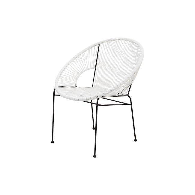 Acapulco Chair - Black, White - 1