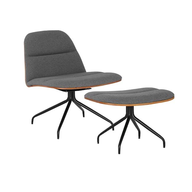 Crown Swivel Lounge Chair - Battleship Grey - 4