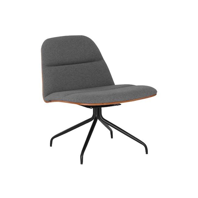 Crown Swivel Lounge Chair - Battleship Grey - 0