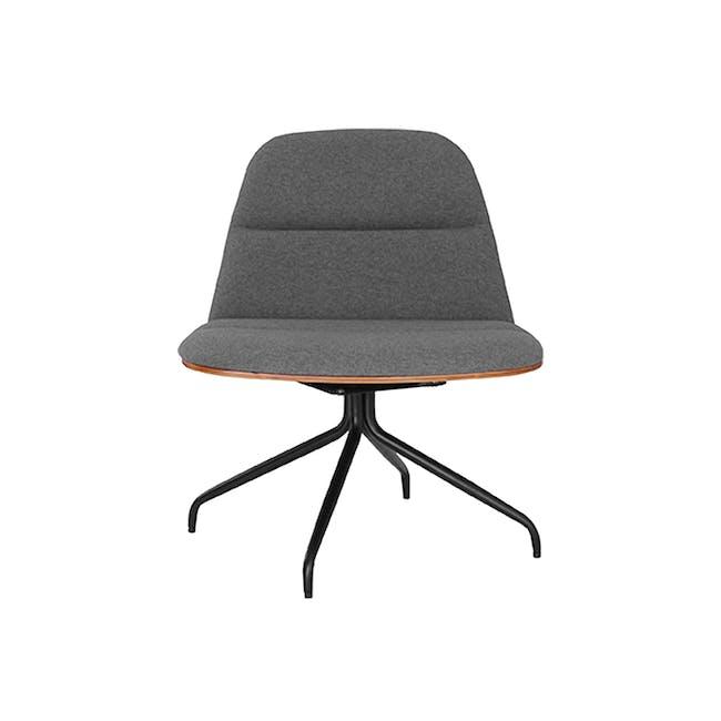 Crown Swivel Lounge Chair - Battleship Grey - 3
