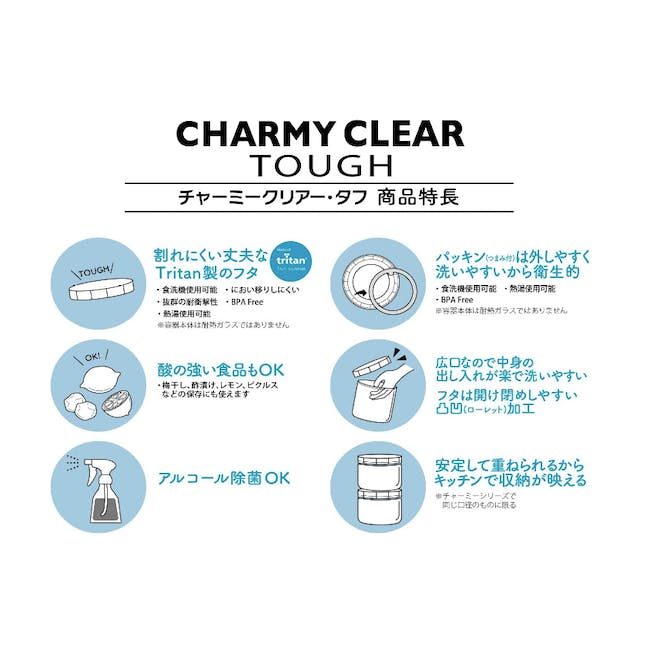 Cellarmate Charmy Clear Tough Container (4 Sizes) - 12