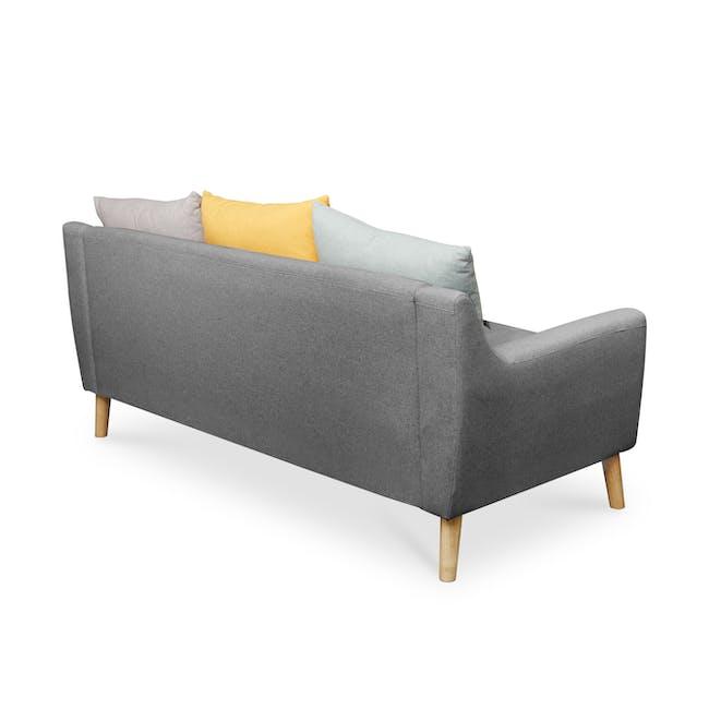 Evan 3 Seater Sofa - Charcoal Grey - 5