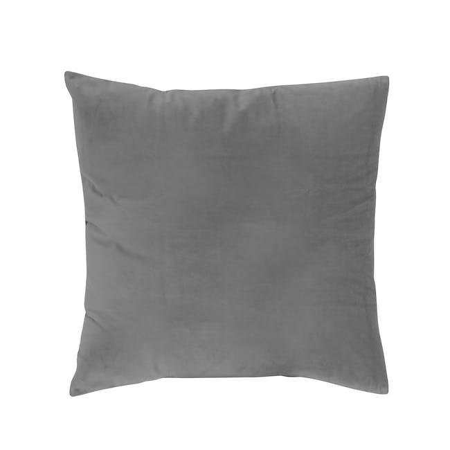 Tammy Large Velvet Cushion - Grey - 0