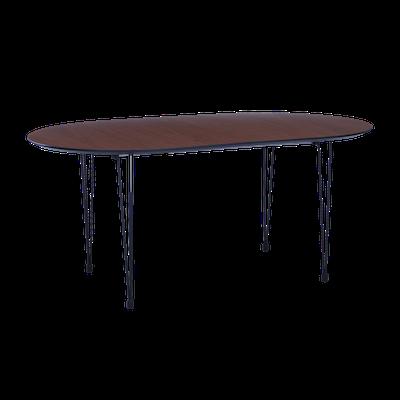 Rikku Extendable Dining Table 1.7m - Walnut, Black - Image 1