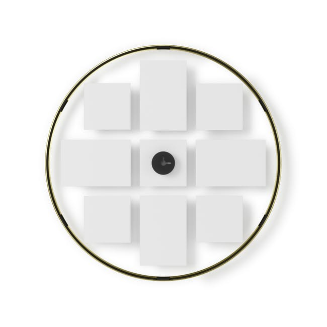 Infinity Wall Float Round Photo Display - Brass - 3