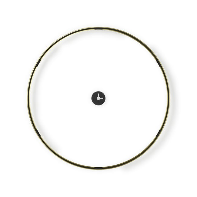 Infinity Wall Float Round Photo Display - Brass - 4