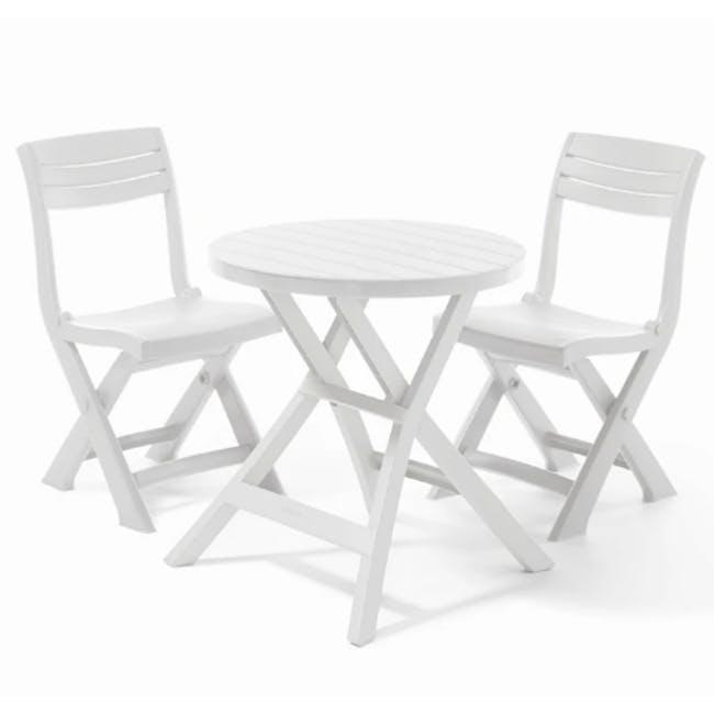 Oregon Folding Table - White - 3