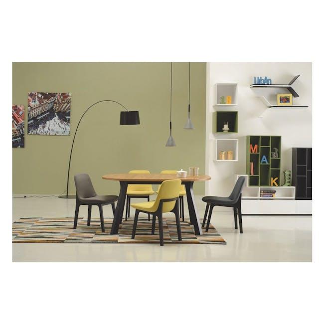 Aurora Dining Chair - Black, Ruby - 2