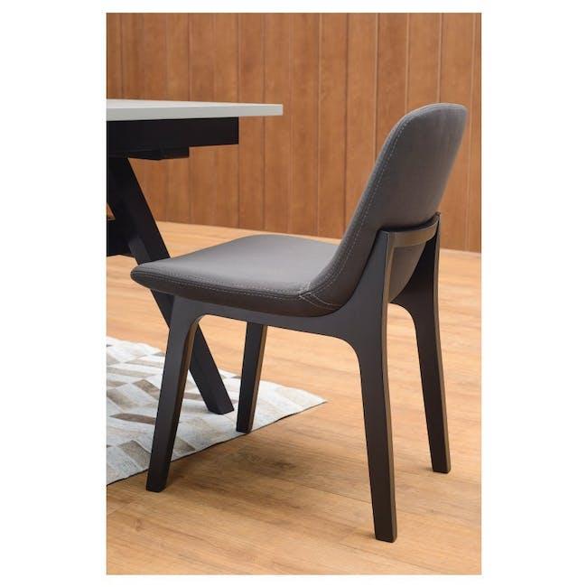 Aurora Dining Chair - Black, Ruby - 1