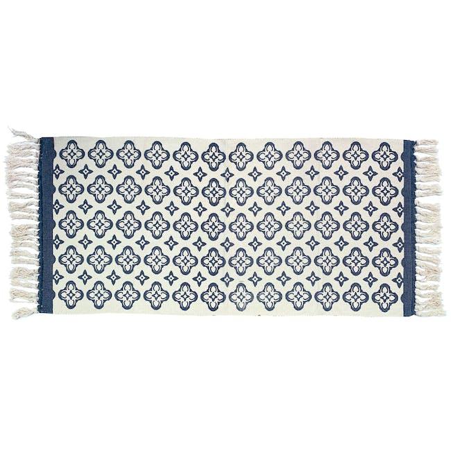 Floral Runner Rug - Blue - 0