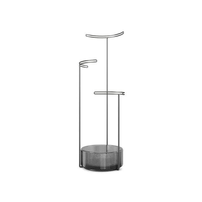Tesora Glass Jewelry Stand - Smoke - 1