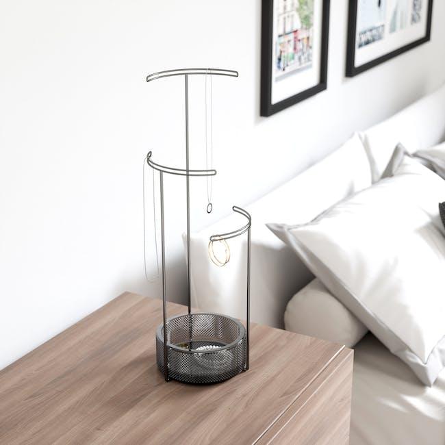 Tesora Glass Jewelry Stand - Smoke - 5