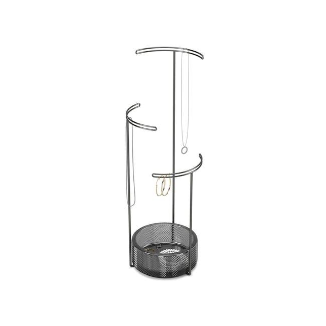 Tesora Glass Jewelry Stand - Smoke - 0