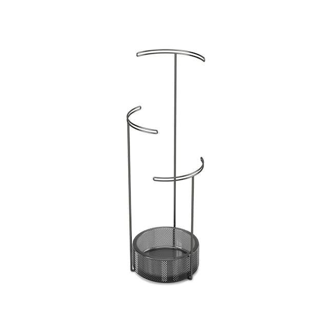Tesora Glass Jewelry Stand - Smoke - 2
