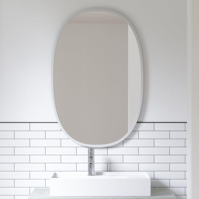 Hub Oval Mirror 61 x 91 cm - Grey - 3