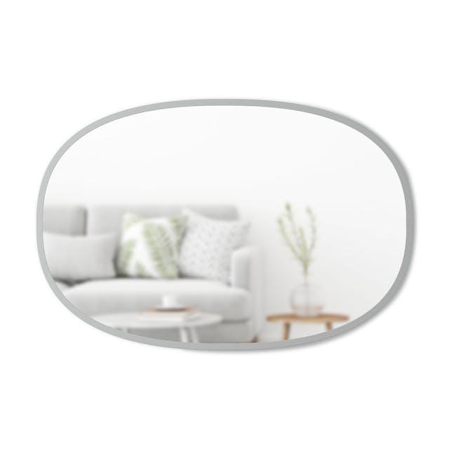 Hub Oval Mirror 61 x 91 cm - Grey - 0