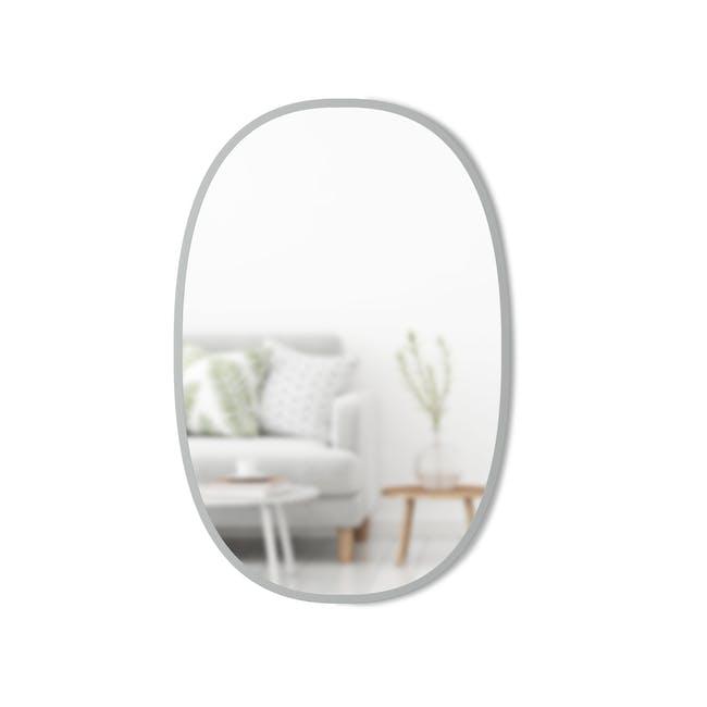 Hub Oval Mirror 61 x 91 cm - Grey - 1