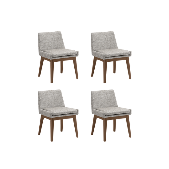 HipVan Bundles - 4 Fabian Dining Chairs in Cocoa, Pebble