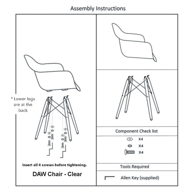 DAW Chair Replica - Natural, Clear - 12