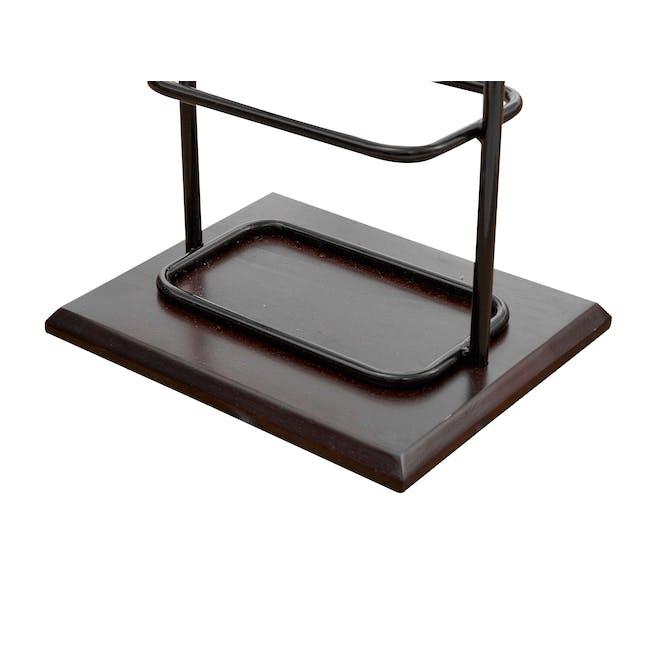 Chester Shoe Rack - Black, Walnut - 3