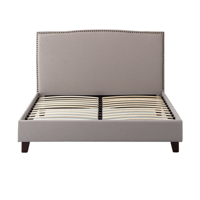 Stanley Queen Headboard Bed - Khaki - Image 1