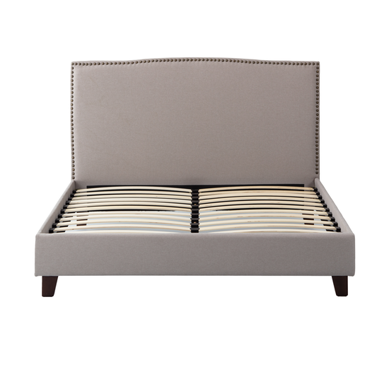 Beds By Hipvan Stanley Headboard Bed Khaki Queen Hipvan