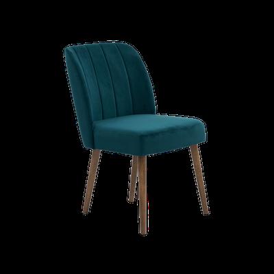 Russell Velvet Dining Chair - Jade - Image 2