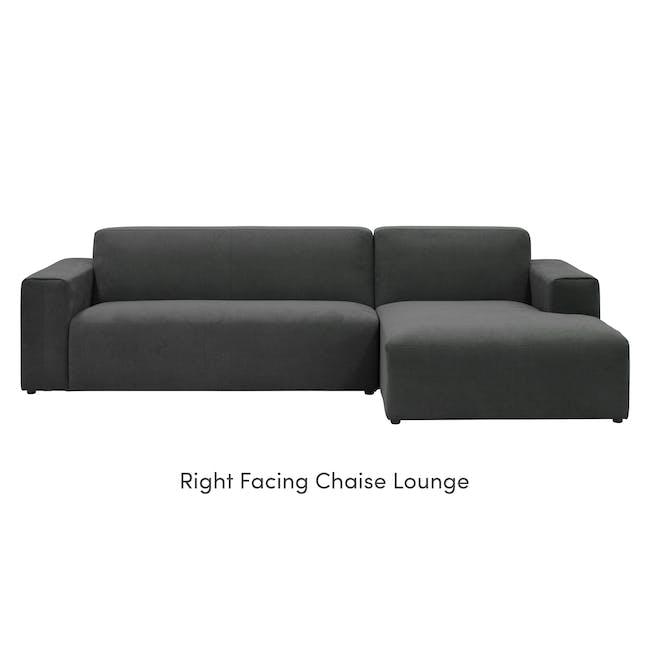 Adam L-Shaped Sofa - Granite - 7