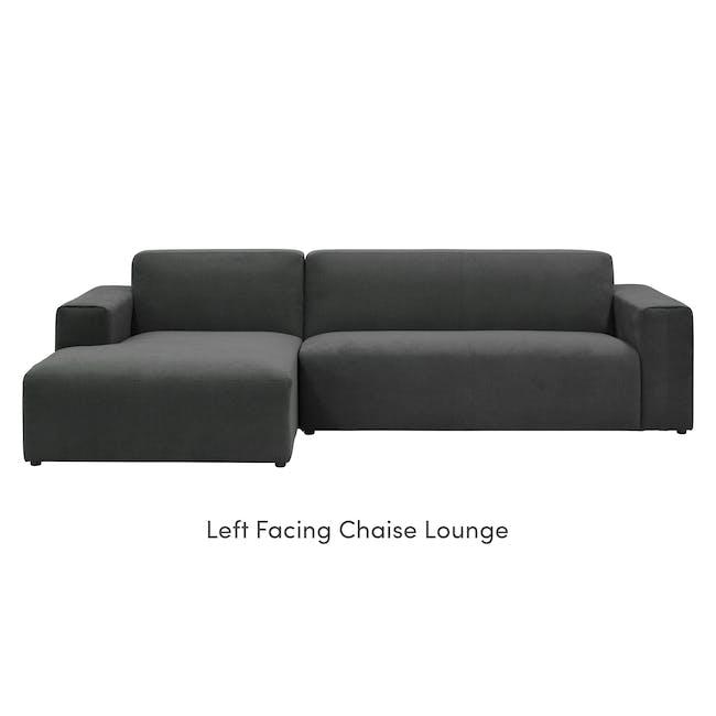 Adam L-Shaped Sofa - Granite - 6