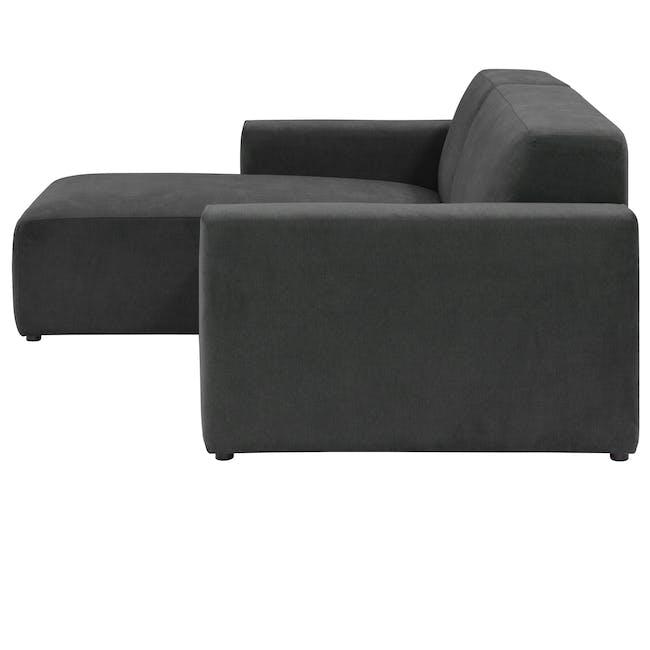 Adam L-Shaped Sofa - Granite - 4