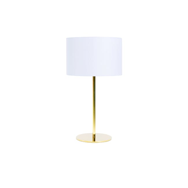 Reese Table Lamp - White, Brass - 0