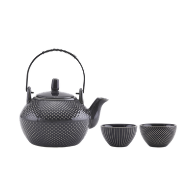 Xena Teapot Set - Black - Image 1
