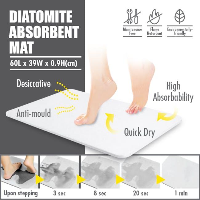 Diatomite Absorbent Mat  - Grey Marble - 2
