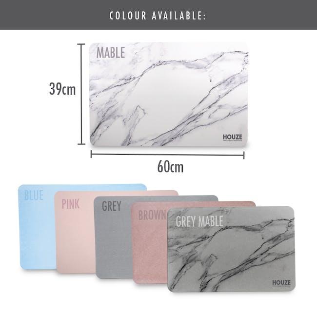 Diatomite Absorbent Mat  - Grey Marble - 8