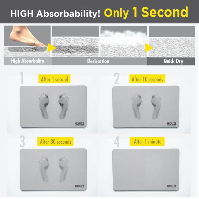 Diatomite Absorbent Mat  - Grey Marble - 7